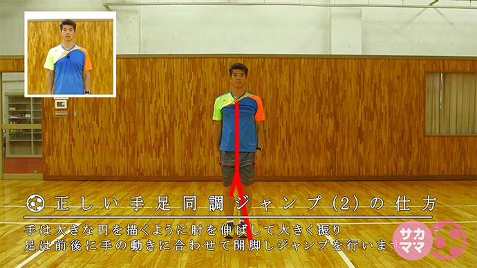 簡単メニューで基礎トレニング!「手足同調ジャンプ2」