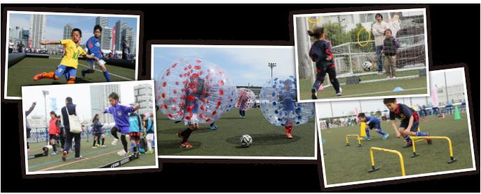 バブルサッカー体験