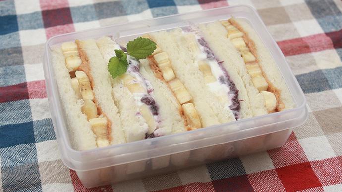 消化がよくエネルギーになりやすい☆バナナのサンドウィッチ2種