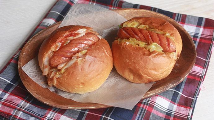 魚焼きグリル1つで簡単☆ミニ・ホットドッグ2種