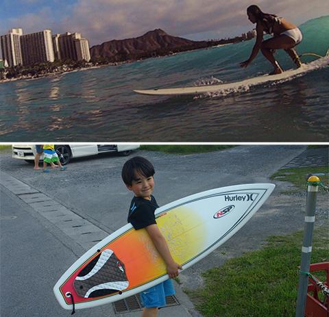 家族3人ともサーフィンとスノーボードが趣味