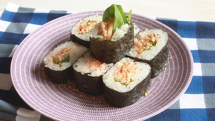 手軽にできる☆納豆とキムチの巻きずし