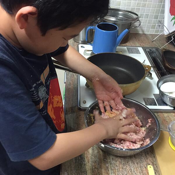 息子さんが料理のお手伝いしてくれる時も