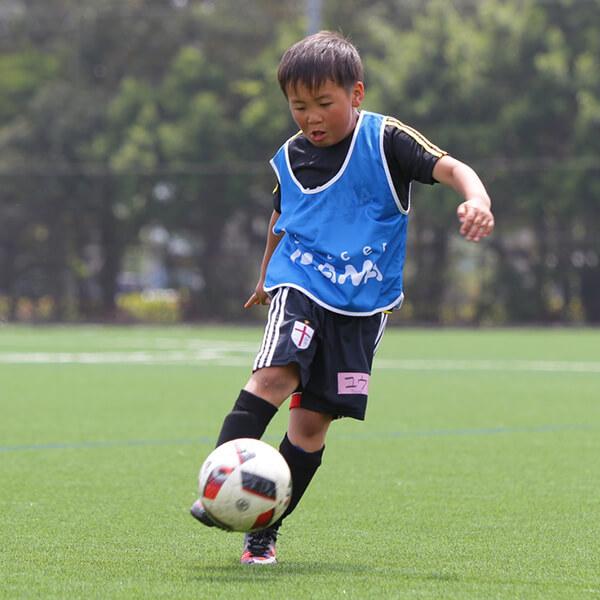 サッカーに夢中の息子さん