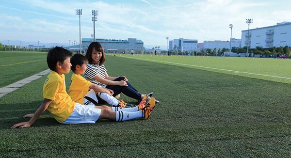 男の子3人を授かったからには、家族でサッカーを盛り上げていきたいですね