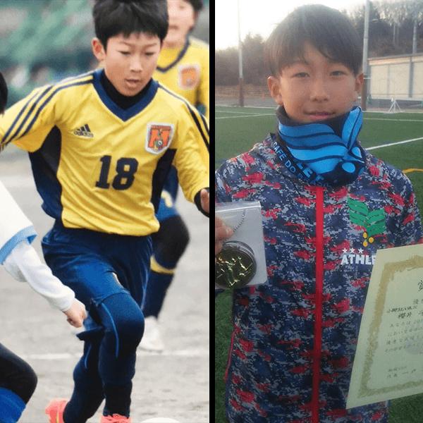 幼稚園の頃からサッカーに夢中の息子さん。