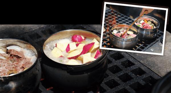 調理鍋を加熱