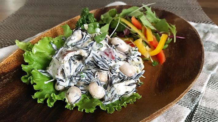カルシウム強化★ひじきと豆とさつまいもサラダ