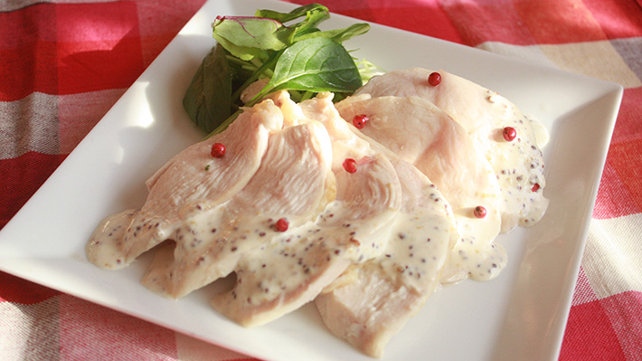 ヘルシーで簡単☆鶏胸肉のしっとりローストチキン