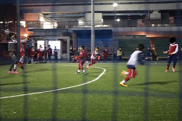 いつものサッカー練習風景