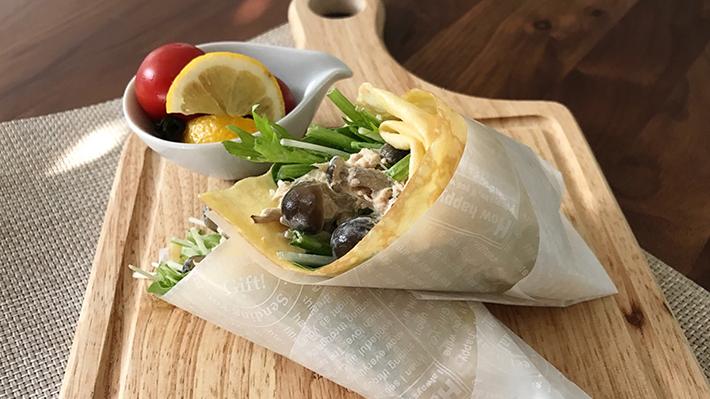 サラダをパクリと★トルティーヤ風キノコとツナの野菜サラダ