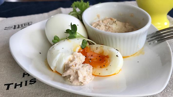 成長期のキッズをサポート★ハチミツ入りツナマヨのゆで卵