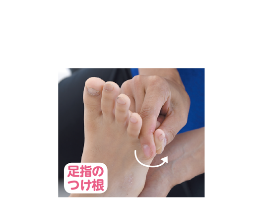 足指のつけ根